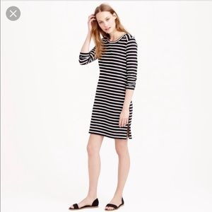 LIKE NEW J.Crew Cotton Dress Stripes Side Zippers